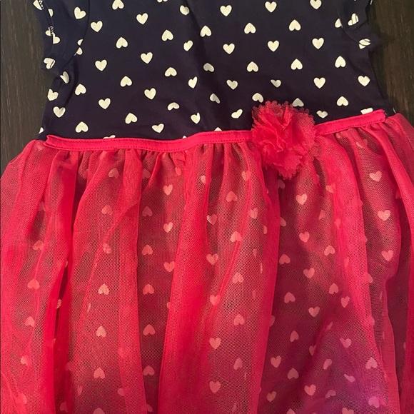 Girls Heart Tulle Dress 2T New